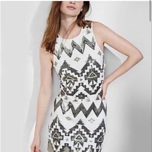 Express Aztec Sequin Tank Dress